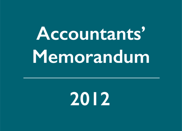 2012 Accountants' Memorandum