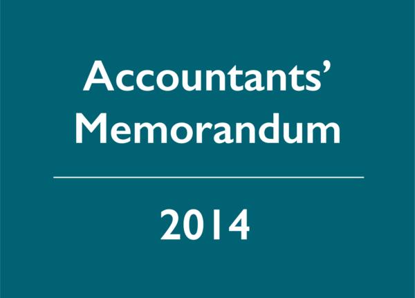 2014 Accountants' Memorandum