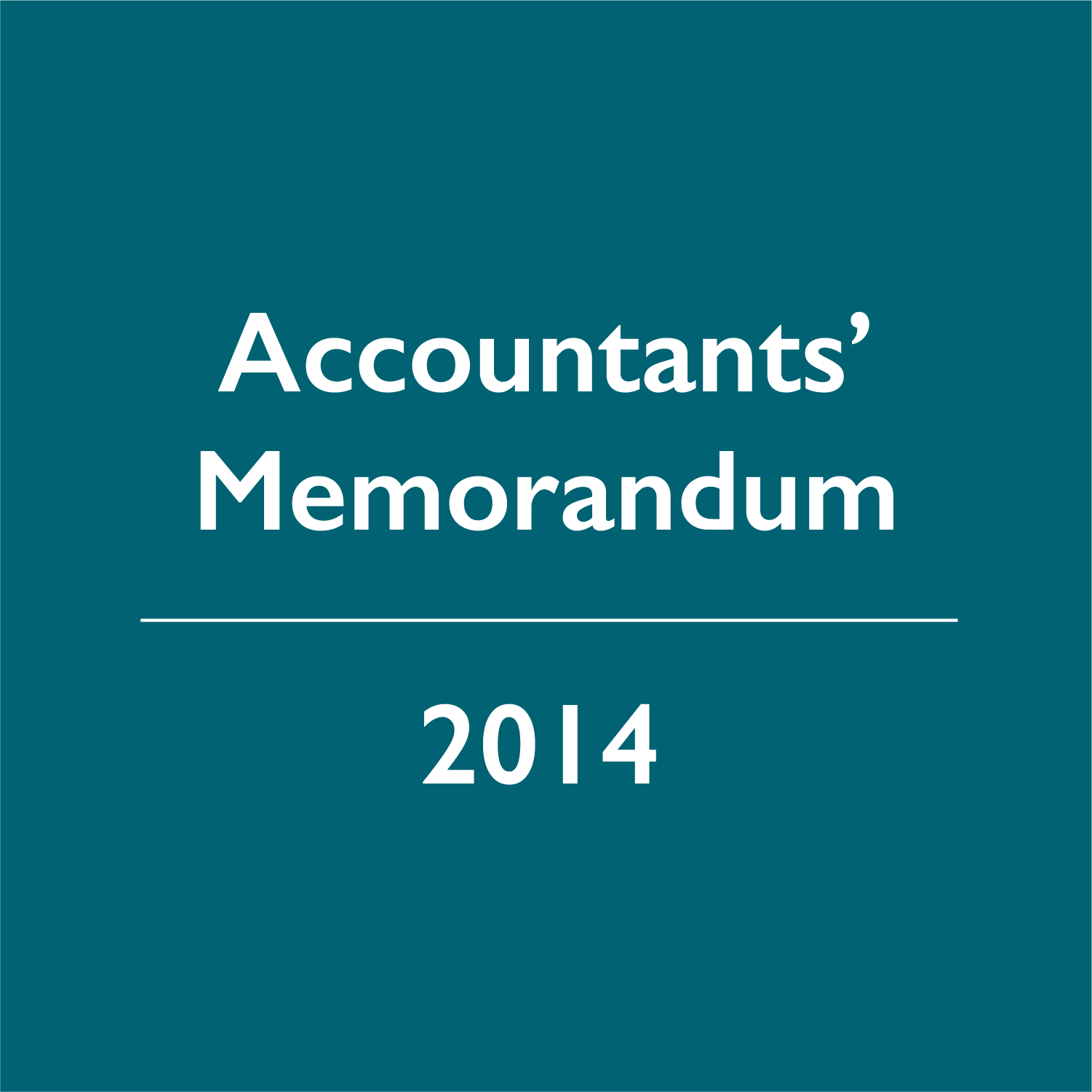 2014 Accountants' Memorandum