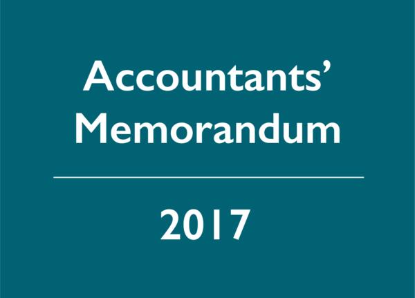 2017 Accountants' Memorandum