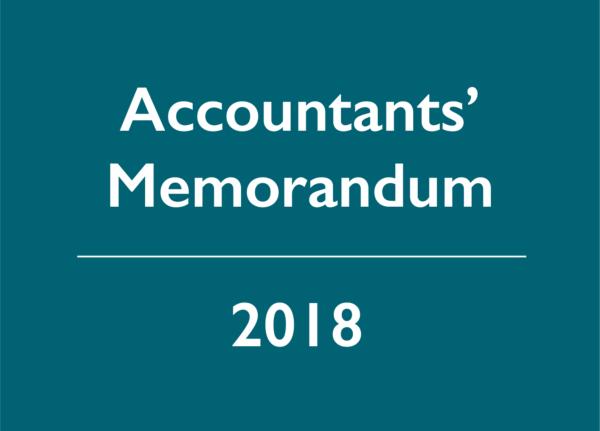 2018 Accountants' Memorandum