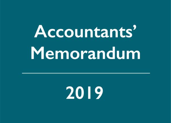 2019 Accountants' Memorandum