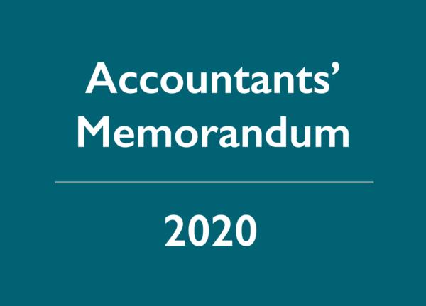 2020 Accountants' Memorandum