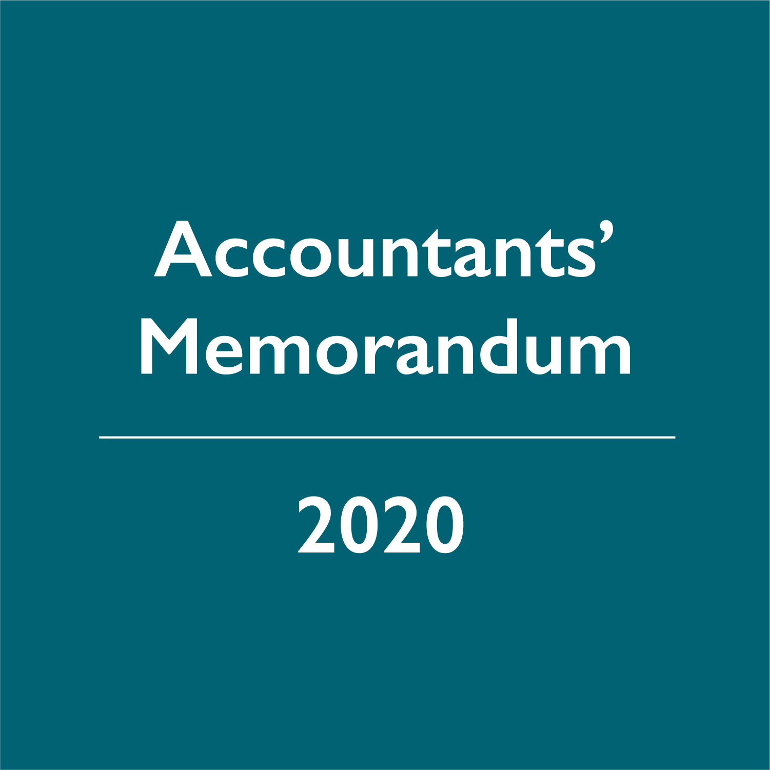 2020 Accountants' Memorandum