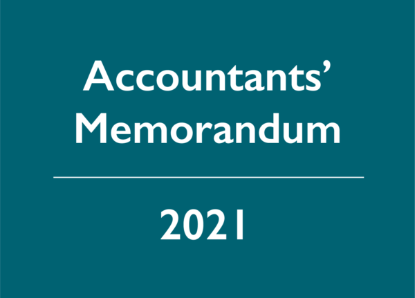 2021 Accountants' Memorandum