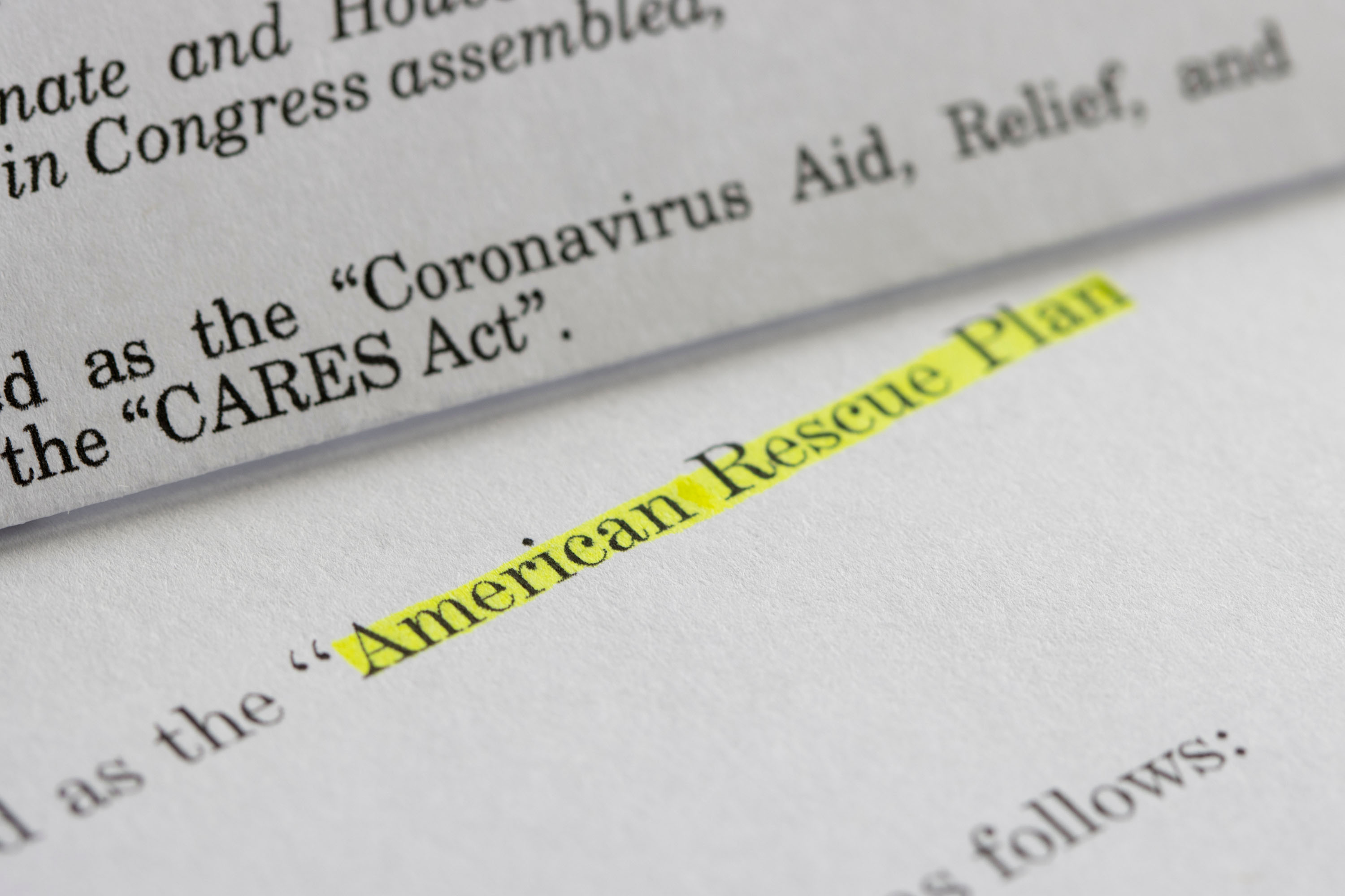 The American Rescue Plan Act provides sweeping relief measures for eligible families and businesses